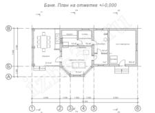 проект бани 1 - план