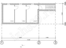 Баня №3 - план-схема подвала