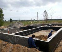 Готовый фундамент из бетона