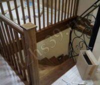 Вариант бетонной лестницы в отделке