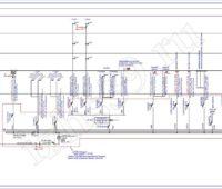 Проектирование электроснабжения - Расчетная схема ППУ
