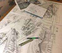 Эскизный проект архитектурных сооружений