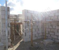 Построение сооружения кладкой газосиликатных блоков