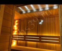 Сауна материал красный канадский кедр освещение led фото