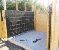 Каркас для заливки купели бетоном