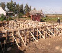 фото опалубки фундамента дачного домика