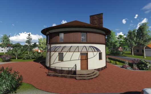 фото круглого дома