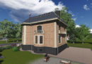 Проект двухэтажного дома-особняка с мансардой. Проекты домов в Калининграде, фото. Строительство домов в Калининграде. Строительная компания. Купить проект дома, коттеджа. Заказать дом.