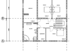Проект двухэтажного дома. Поэтажные планы. Проекты домов в Калининграде.. Строительство домов в Калининграде. Строительная компания. Купить проект дома, коттеджа. Заказать дом.