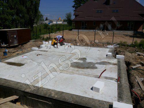 бетонное основание под дом