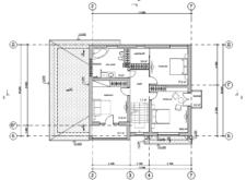 Проект двухэтажного дома. Поэтажные планы. Проекты домов. Строительство домов в Калининграде. Строительная компания. Купить проект дома, коттеджа. Заказать дом.