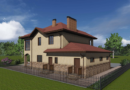 Проект двухэтажного дома. Проекты домов. Строительство домов в Калининграде. Строительная компания. Купить проект дома, коттеджа. Заказать дом.