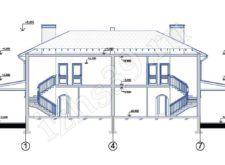 Проект двухэтажного дома. Поэтажные планы. Проекты домов. Строительство домов в Калининграде. Строительная компания. Купить проект дома. Заказать дом.