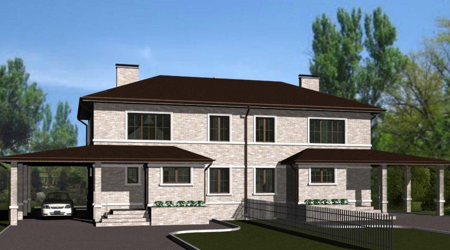 Проект двухэтажного дома. Проекты домов. Строительство домов в Калининграде. Строительная компания. Купить проект дома. Заказать дом.