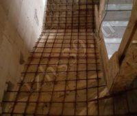 Процесс монтажа бетонной лестницы - армирование