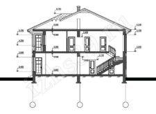 план-схема двухэтажного дома Барон