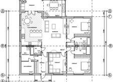 Проект одноэтажного дома. Поэтажные планы, план-схема. Проекты домов в Калининграде, фото. Строительство домов в Калининграде. Строительная компания. Купить проект дома, коттеджа. Заказать дом.