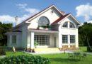 Проект одноэтажного дома с мансардой. Проекты домов в Калининграде, фото. Строительство домов в Калининграде. Строительная компания. Купить проект дома, коттеджа. Заказать дом.