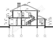 план-схема двухэтажного дома