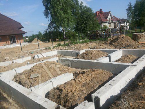 готовый ленточный фундамент под дом