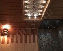 Сауна: выполнено из осины и термоосины, панели из можжевельника. Освещение оптоволоконное cariiti - фото
