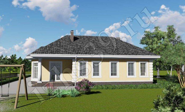 сторона дома с террасой