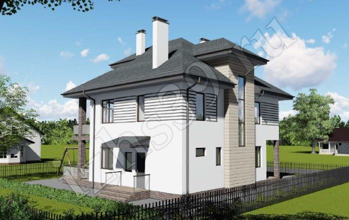 Проект трёхэтажного дома Балтика. Проекты домов. Строительство домов в Калининграде. Строительная компания. Купить проект дома. Заказать дом.