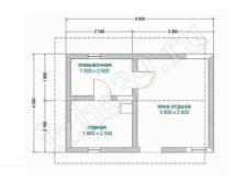 план-схема кирпичной бани