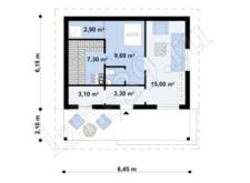 план-схема бани 52 м.кв.