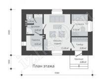 план-схема бани в 57 м.кв.