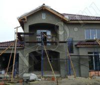 фасадные работы, протяжка сетки клеем фото