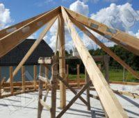 монтаж стропильной системы шатровой крыши фото