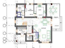 план-схема 1го этажа дома Балтика