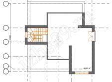 План-схема 3-го этажа дома Балтика. Проект трёхэтажного дома Балтика. Проекты домов. Строительство домов в Калининграде. Строительная компания. Купить проект дома. Заказать дом.