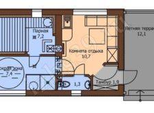 план-схема бани 40,6 м.кв.