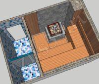 Схема парной для строительства бани - №5