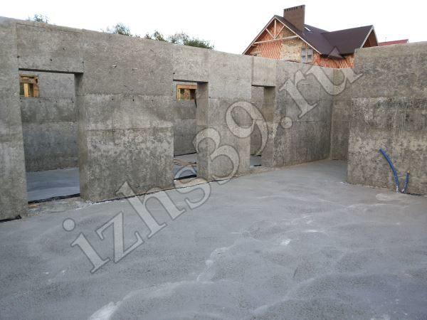 бетонирование пола цокольного этажа