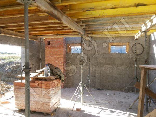 монтаж перекрытия между цокольным и первым этажом дома