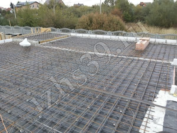 армирование межэтажного бетонного перекрытия