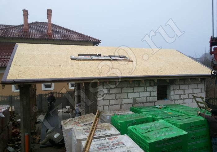 17 - настил ОСБ на крыше